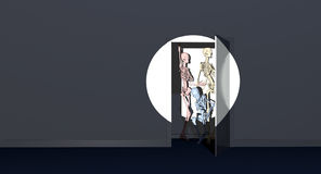 Closet skeletons. Skeletons hiding in your closet Royalty Free Stock Photo
