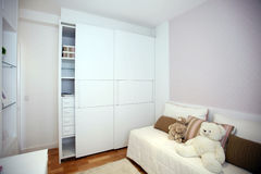 Closet. With two sliding doors stock images