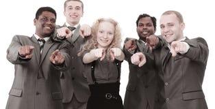 closeup équipe internationale d'affaires montrant des mains en avant Photographie stock libre de droits
