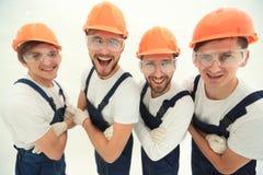 closeup Группа в составе профессиональные промышленные работники Стоковое фото RF