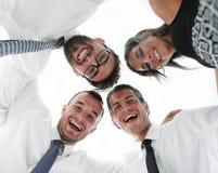 closeup Нижний взгляд бизнесмены успешные Стоковое Фото