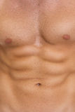 Closeup on abdominal muscles Stock Photo