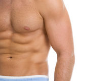 Closeup on abdominal muscles Royalty Free Stock Images