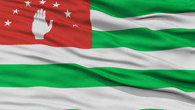 Closeup Abkhazia Flag. Waving in the Wind, High Resolution Royalty Free Stock Photography