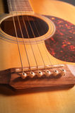 Closeup acoustic guitar,vintage filtered. Stock Photography