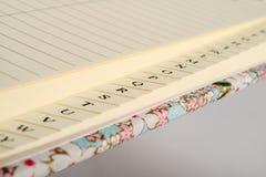 Closeup of Address Book Tab Index Stock Photos