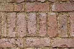 Closeup of adobe exterior wall of the old house Royalty Free Stock Image
