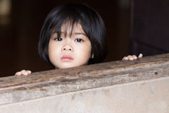 Closeup adorable face little asian girl. Stock Photography