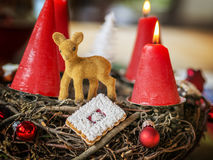 Closeup advent wreath Royalty Free Stock Image