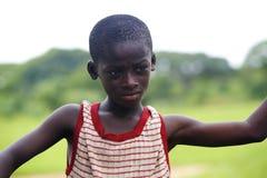 Closeup of an african boy Royalty Free Stock Photos