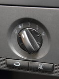 Closeup of air conditioning button in car Stock Photography