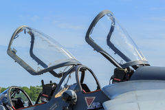 Closeup of aircraft canopy Royalty Free Stock Images