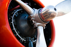 Closeup of Airplane Engine Royalty Free Stock Photo