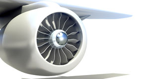 Closeup of Airplane Engine Stock Image
