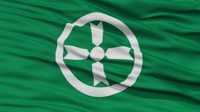 Closeup of Akita Flag, Capital of Japan Prefecture Royalty Free Stock Photos