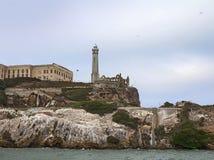 Closeup of Alcatraz Island in San Francisco, USA. Stock Image