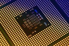 Closeup of aligned CPU Computer Processor. Background Stock Photos