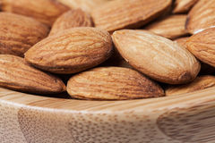 Closeup of almonds Stock Images