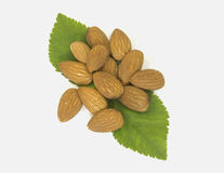 Closeup almonds Stock Photos