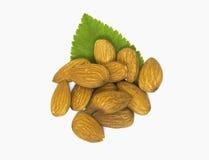 Closeup almonds Royalty Free Stock Image