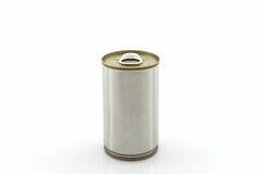 Closeup aluminum tin can. Stock Photos