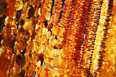 Closeup of amber jewelry Royalty Free Stock Image
