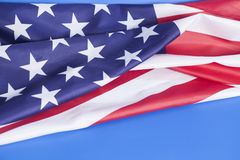 Closeup of American flag Royalty Free Stock Photography