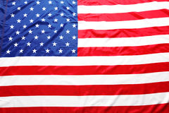 Closeup of American flag Stock Images