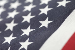 Closeup American flag Stock Images