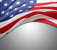 USA flag on grey Stock Image