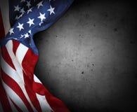 USA flag on grey stock images