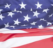 Closeup of American flag. National symbol background Royalty Free Stock Photo