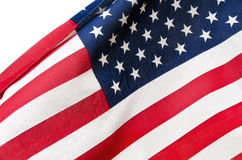 Closeup of American flag Stock Photos