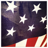 Closeup of American Flag USA Stock Photos