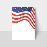 Closeup of American flag Stock Photo