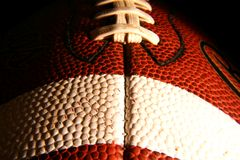 Closeup of an American Football