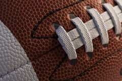 Closeup of American football Royalty Free Stock Images