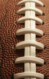 Closeup Of An American Football Royalty Free Stock Photos