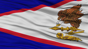 Closeup American Samoa Flag, USA state. Closeup American Samoa Flag on Flagpole, USA state, Waving in the Wind, High Resolution Royalty Free Stock Photos
