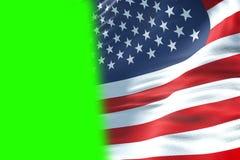 Closeup of american USA flag, stars and stripes, united states o vector illustration