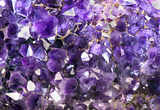 Closeup of Amethyst crystals.. Stock Photography