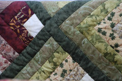 Closeup of Amish Quilt Stock Image