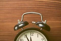 Closeup of analog retro alarm clock Royalty Free Stock Photography
