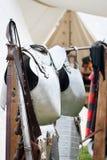 Closeup of ancient armors Royalty Free Stock Photography