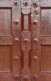 Closeup of Ancient door in inside gallery og Agra Fort Stock Photography