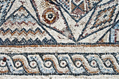Closeup of ancient mosaic. Stock Photo