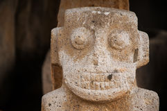 Closeup Ancient Statue. A closeup view of an ancient pre-columbian statue in San Agustin, Colombia Royalty Free Stock Photo