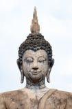 Closeup Ancient statues of buddha at Sukhothai Historical Park, Royalty Free Stock Images
