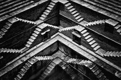 Closeup of an ancient stepwell in Jodhpur, India Stock Photos