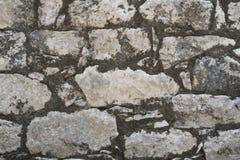 Closeup of ancient stone wall texture of Mayan Coba Ruins, Mexico Stock Image